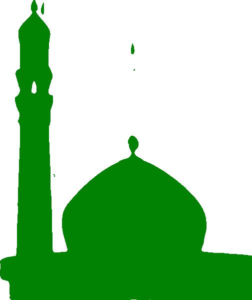 504x599 Green Masjid Clip Art