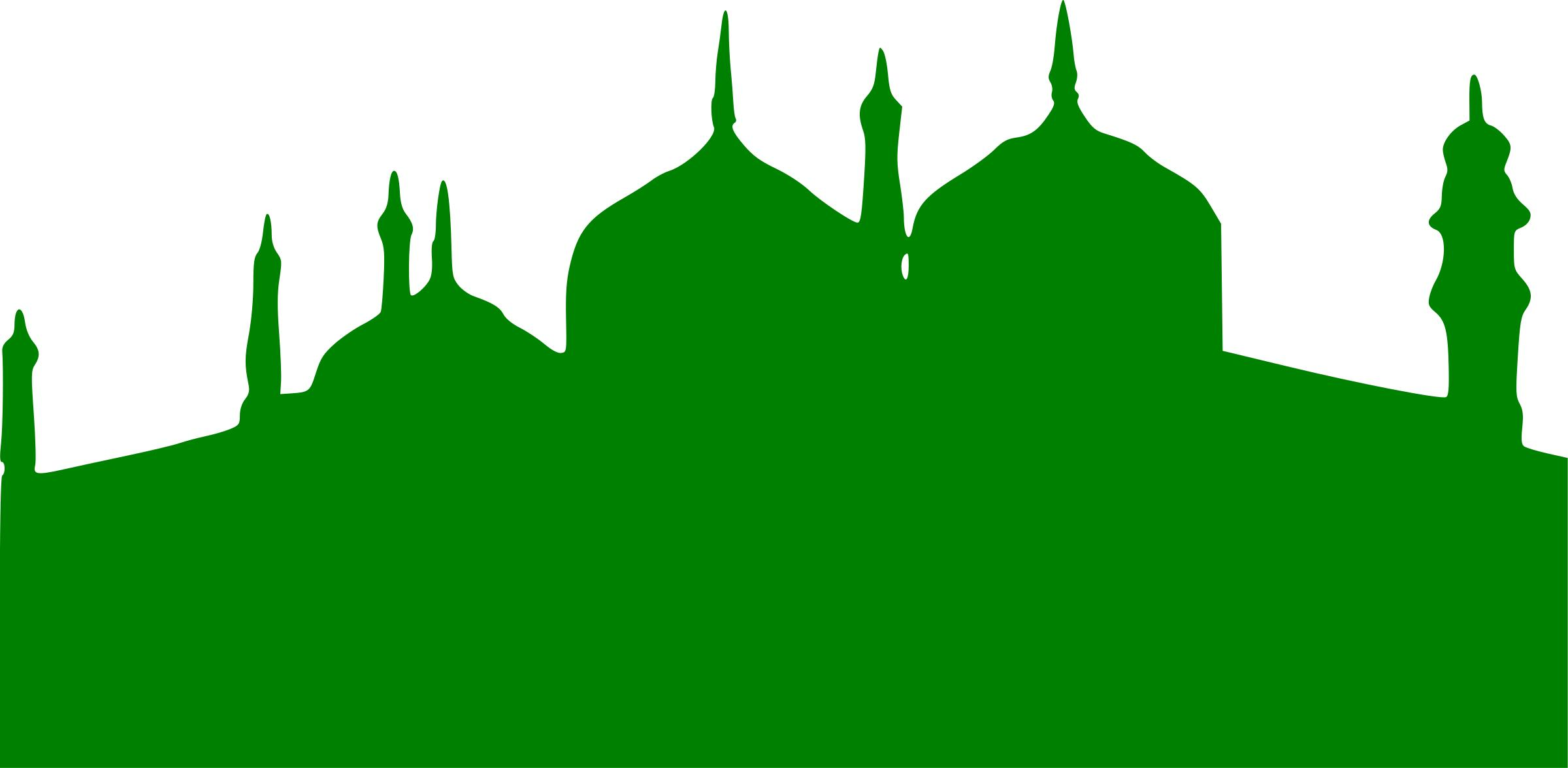 2400x1176 Green Mosque Icons Png