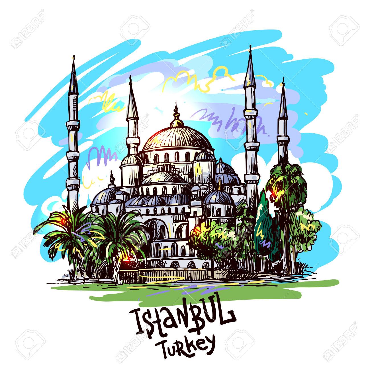1299x1300 Mosque Clipart Blue Mosque