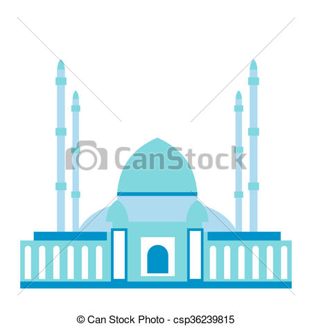 450x470 Mosque Flat Icon Isolated On White Background Clipart