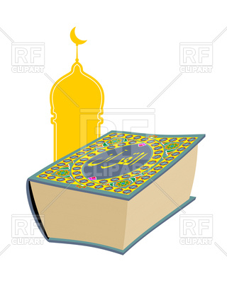 320x400 Quran. Sacred Book Of Muslims. Royalty Free Vector Clip Art Image
