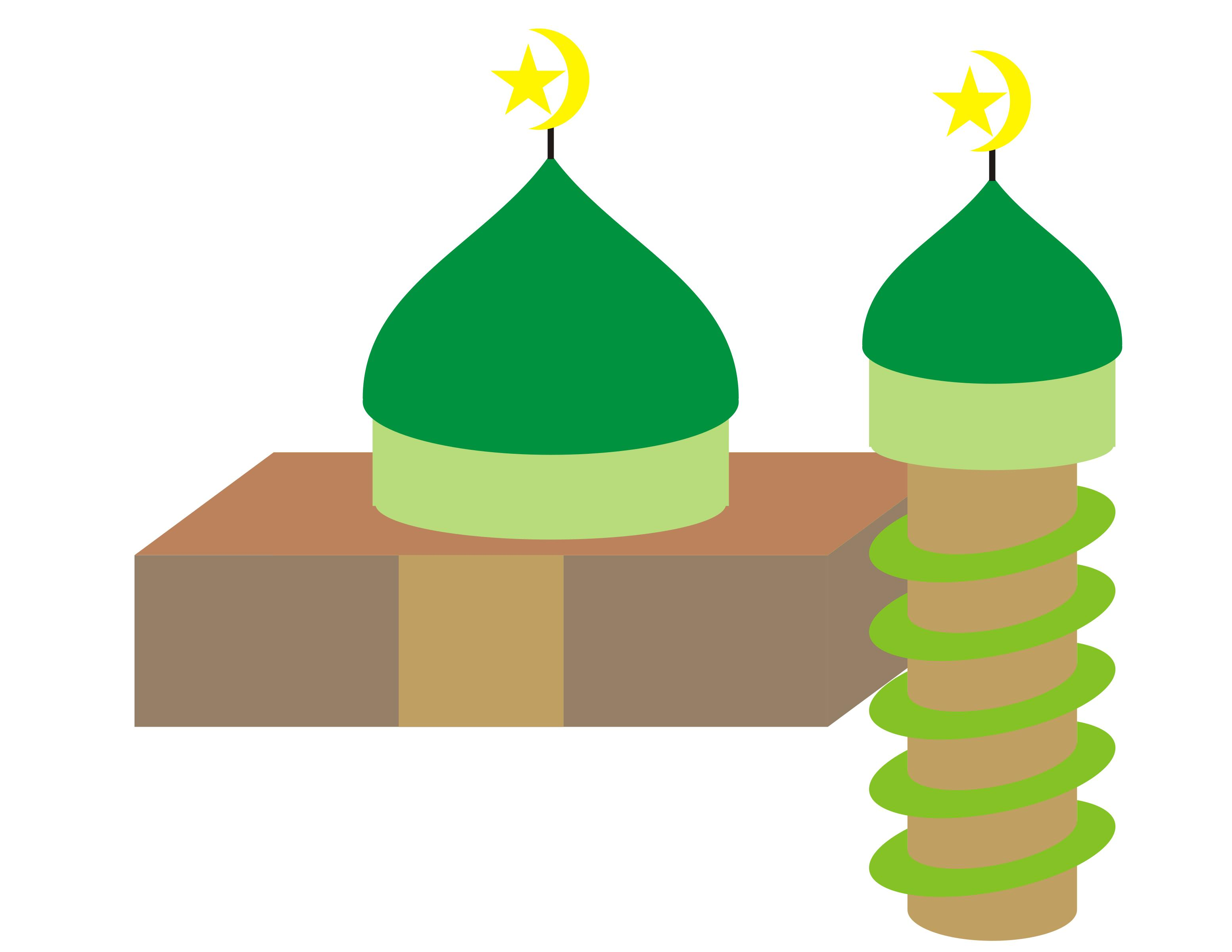 3106x2400 Simple Mosque Icons Png