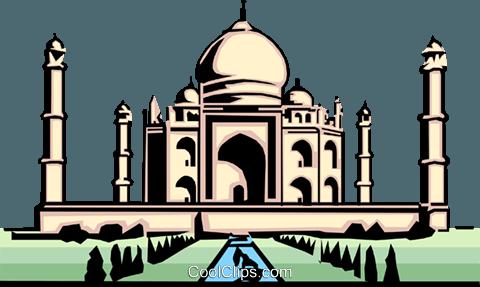480x287 Taj Mahal Royalty Free Vector Clip Art Illustration Arch0075