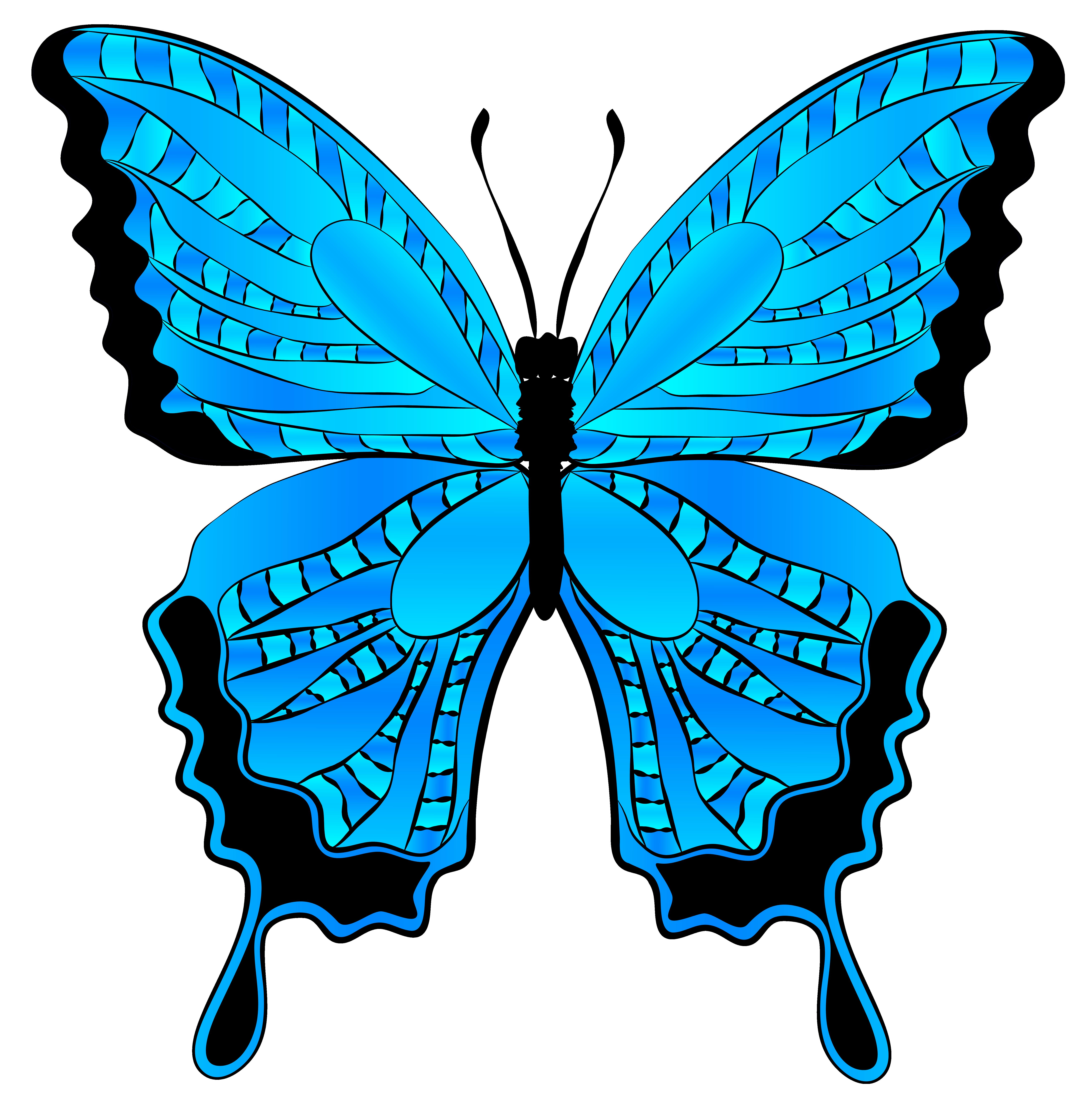 6117x6224 Clip Art Blue Butterfly Clip Art