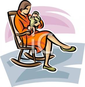 293x300 Clip Art Mother Rocking Her Baby In A Rocking Chair 3ysysss