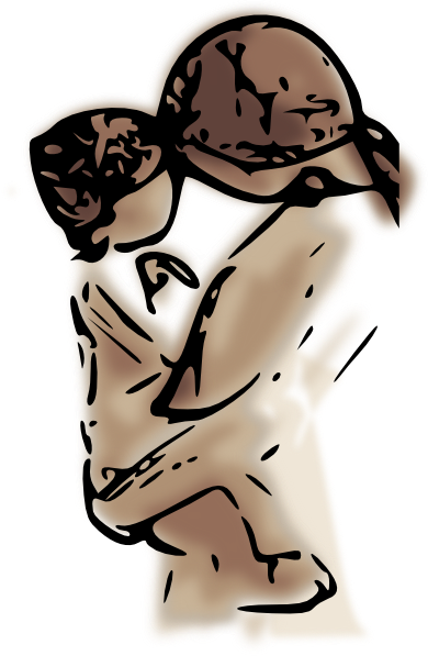 390x597 Mother With Baby Clip Art