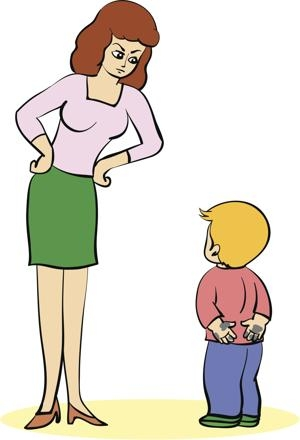 300x440 Mom Scolding Child Clipart