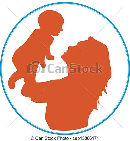 432x470 Mother And Baby Clipart Logo