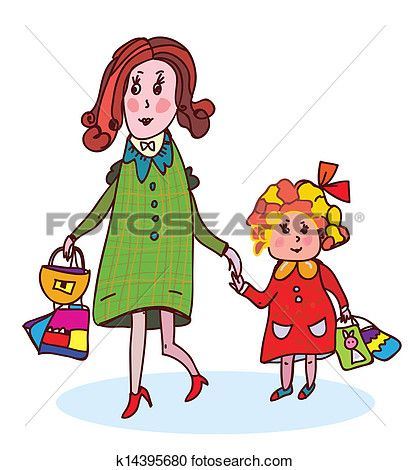 410x470 New Mother With Child Clipart