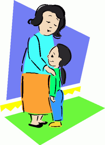 Mother And Daughter Clipart