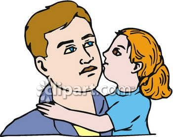 350x278 Daughter Kissing Daddy Clip Art