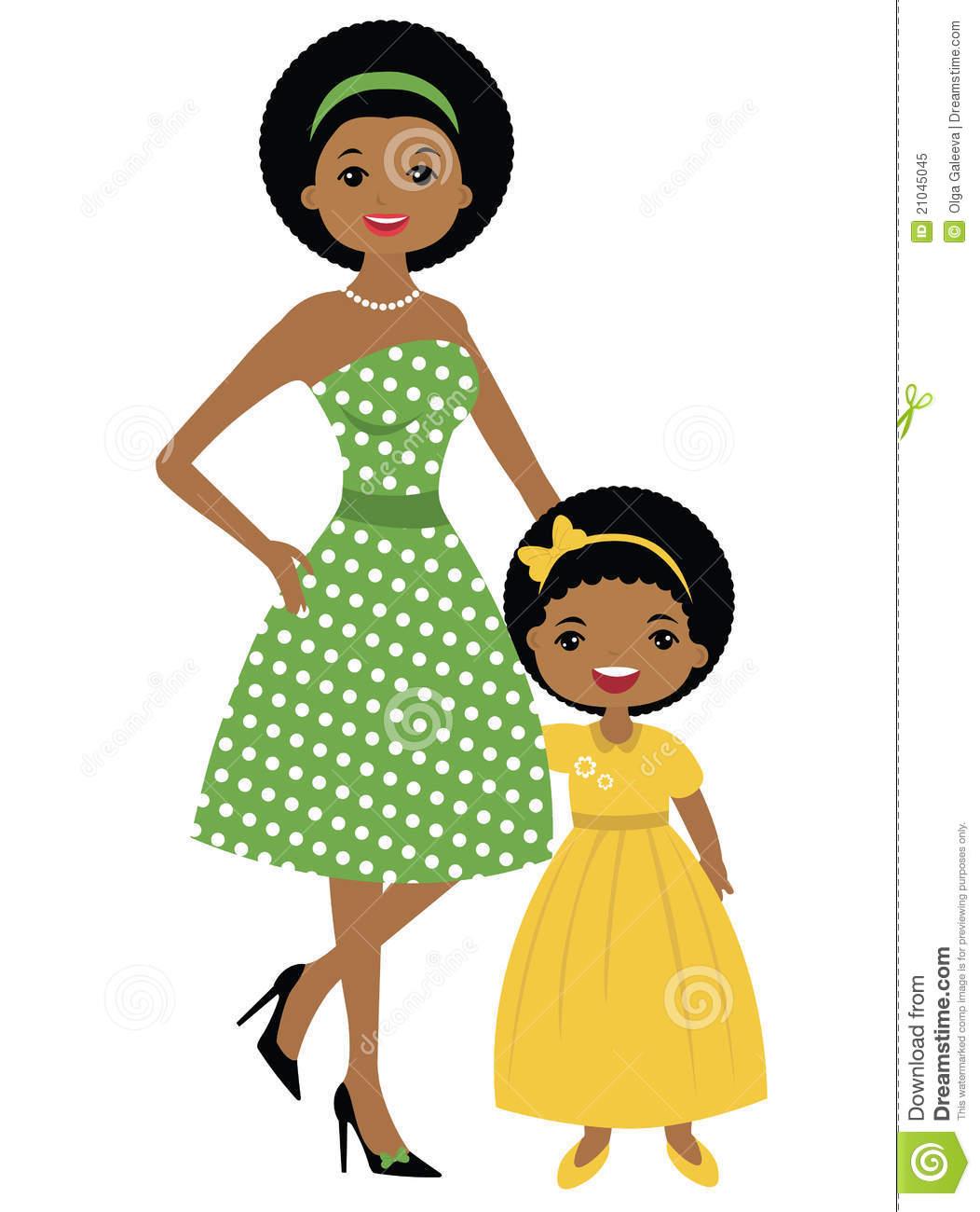 1052x1300 Gallery Black Mother Daughter Clip Art,