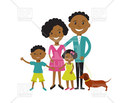 400x330 Happy African American Family Father, Mother, Son And Daughter
