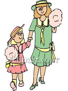 225x300 A Mother And Daughter Eating Cotton Candy