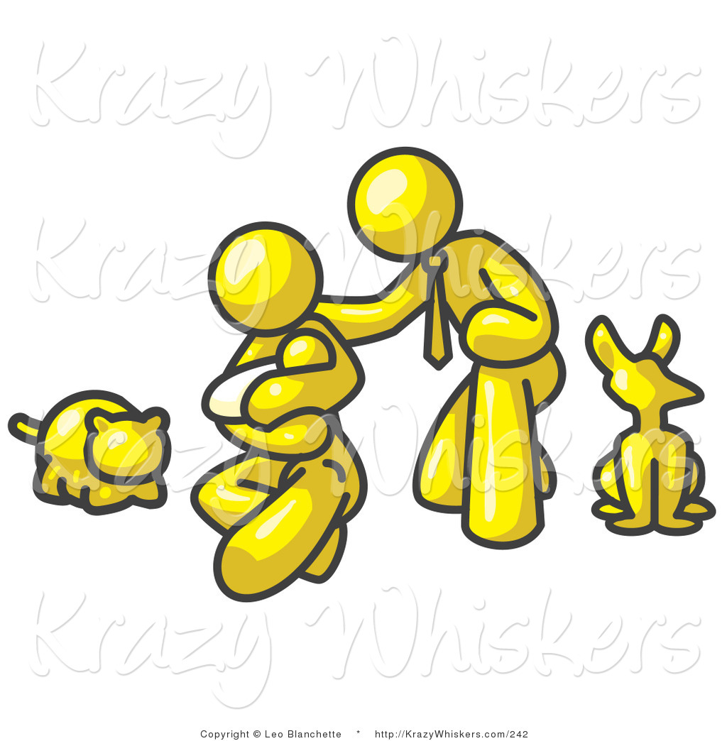 1024x1044 Critter Clipart Of A Yellow Family, Father, Mother And Newborn