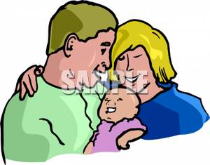 300x235 A Mother And A Father Holding Their Newborn Baby