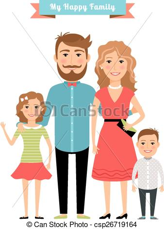 338x470 Happy Family. Parents Kids. Daughter Father, Mother