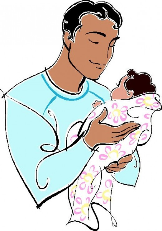 520x742 Baby Dad Clipart, Explore Pictures