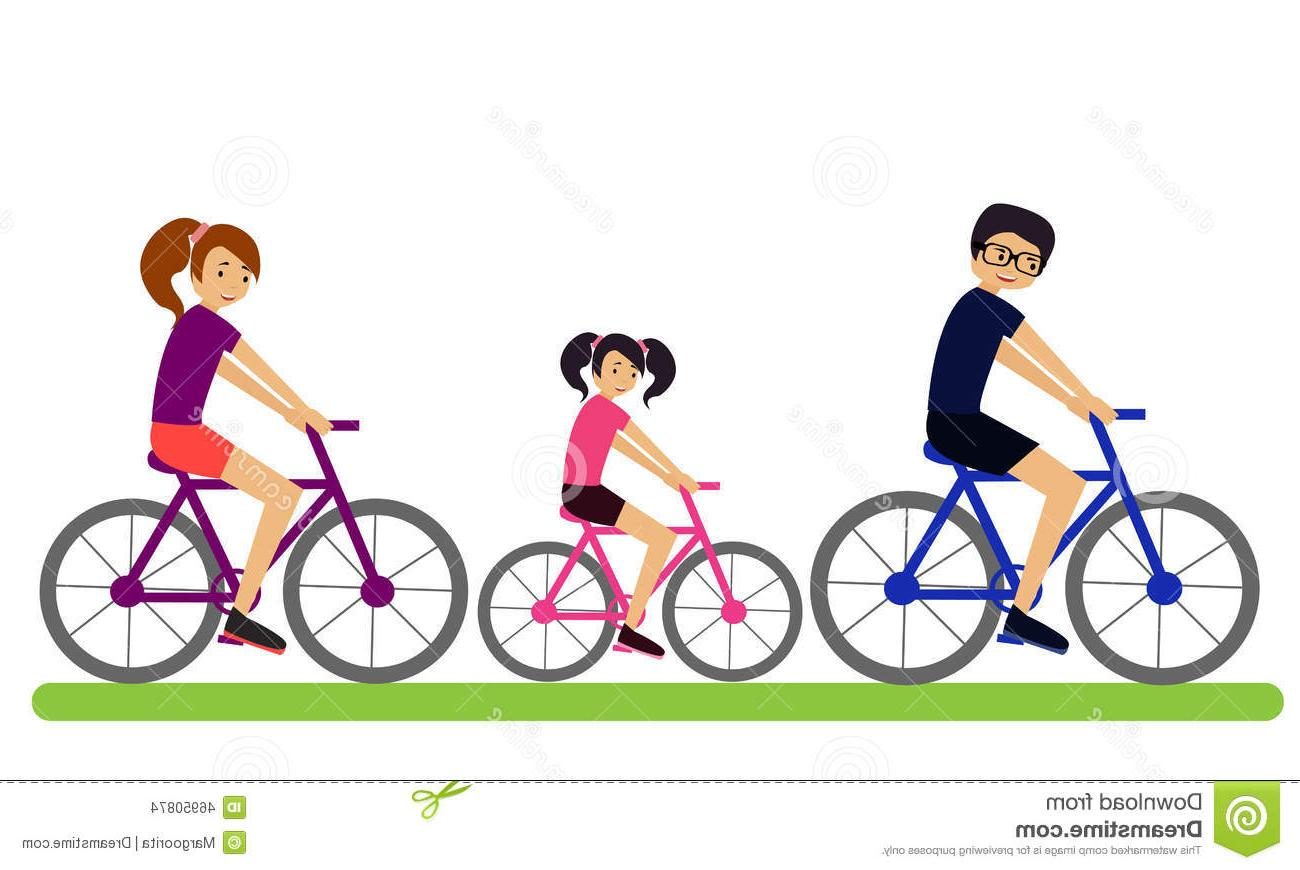 1300x870 Best 15 Family Bikes Mother Father Their Child Ride Vector