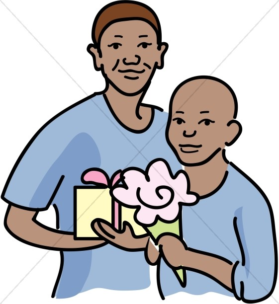 561x612 Holding Gifts Clipart Mother's Day Clipart