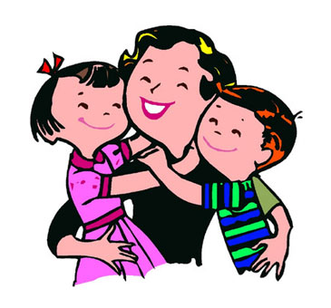 365x340 Mom Hugging Son Clipart