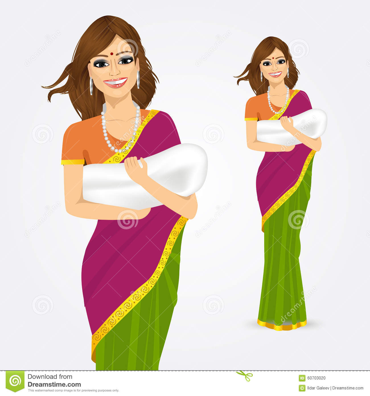 1300x1390 Mother And Baby Clipart Indian