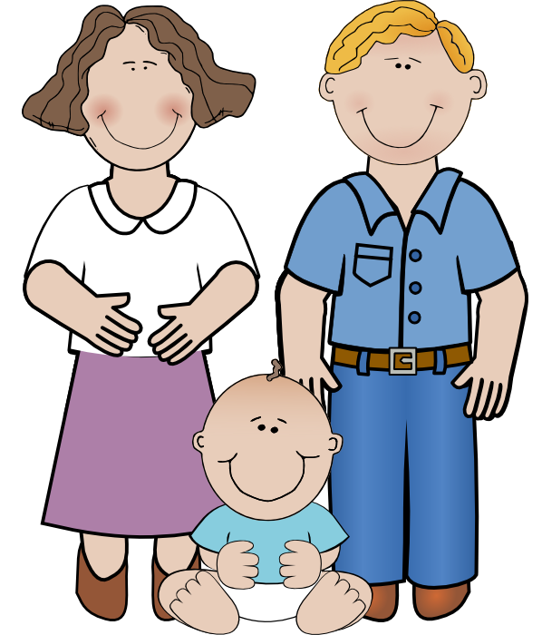 598x700 Mom And Dad Clipart Clipartlook