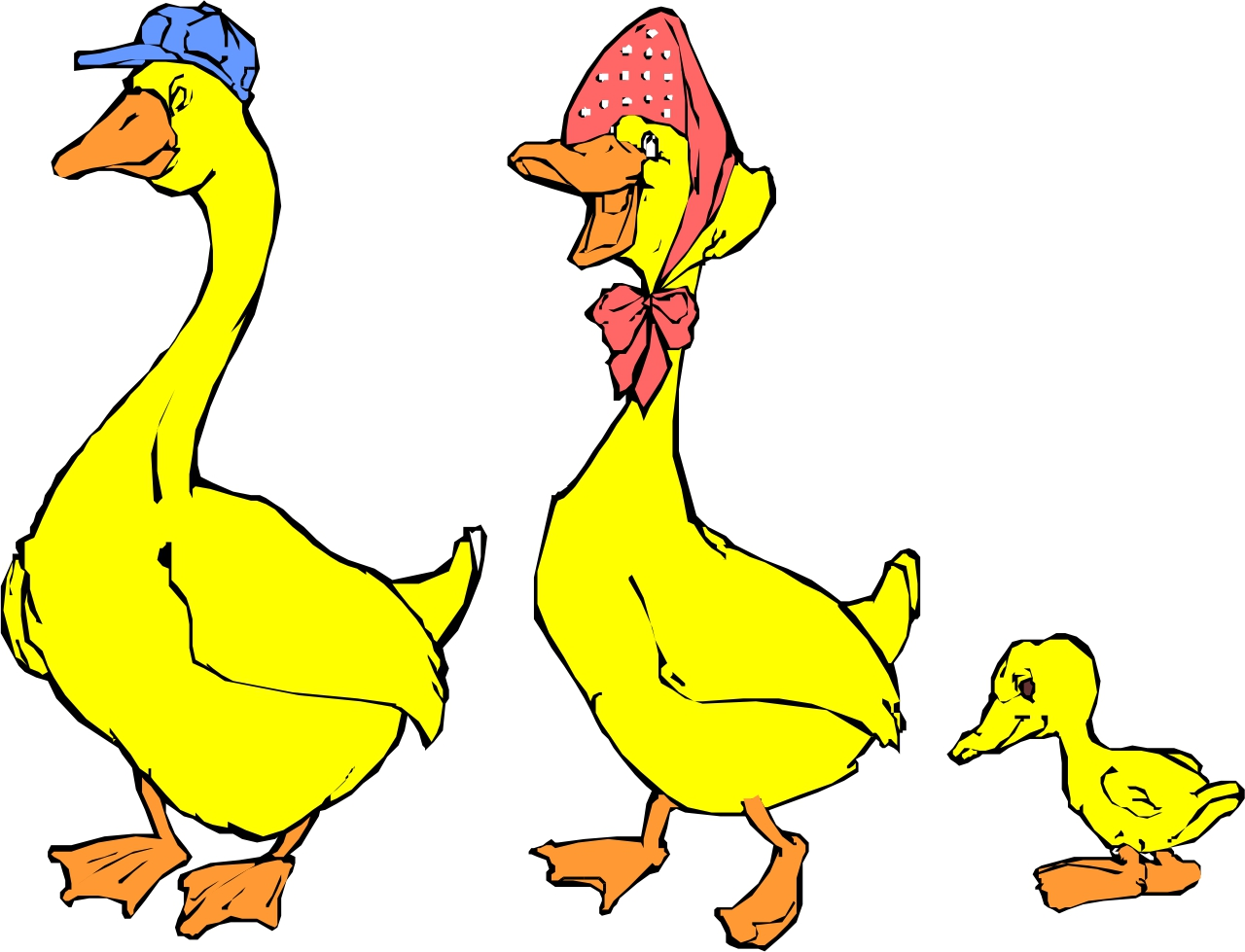 1280x979 Mother Duck Clipart