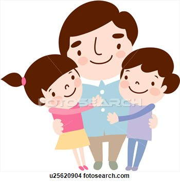 350x354 Father Two Daughters Clipart Collection