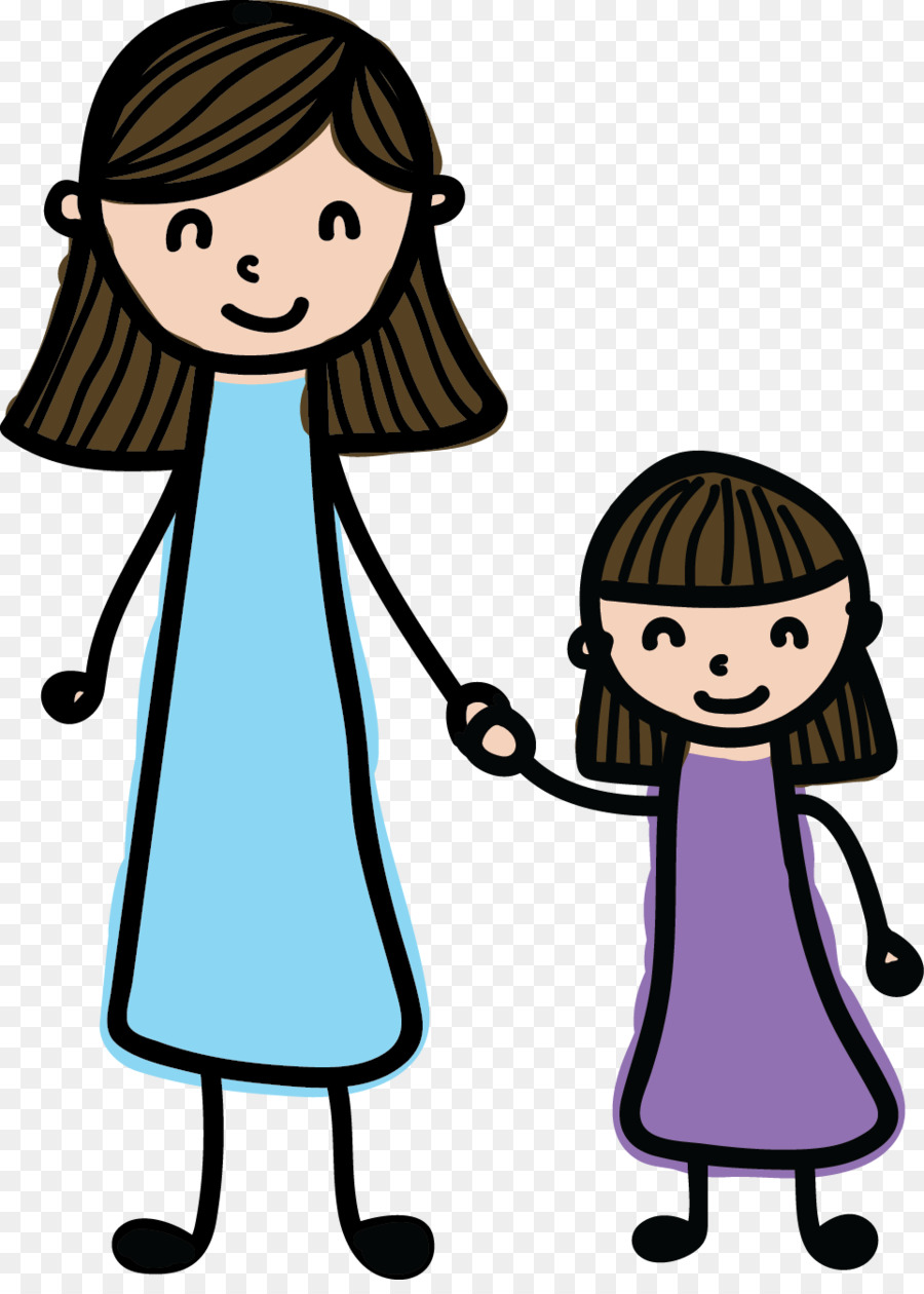 900x1260 Mother's Day Daughter Child Clip Art