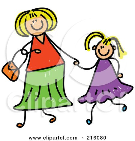 450x470 Deluxe Mother Daughter Clipart