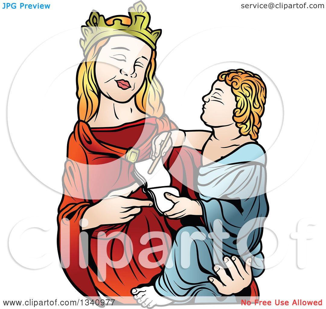 1080x1024 Clipart Of A Virgin Mary Holding Baby Jesus