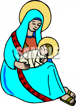253x350 Royalty Free Mother Mary Clip Art, Christmas Clipart