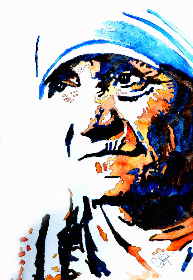 619x900 Mother Teresa Painting By Steven Ponsford