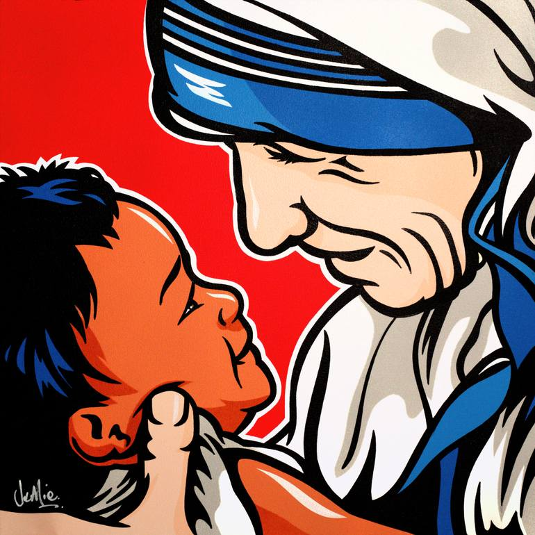 770x770 Saatchi Art Mother Teresa With Child Painting By James Lee