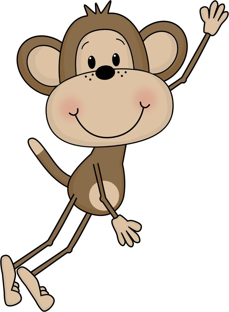 736x1005 Swinging Monkey Clipart