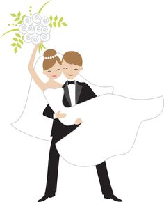 236x290 Wedding Clip Art Bride And Groom Have A Look
