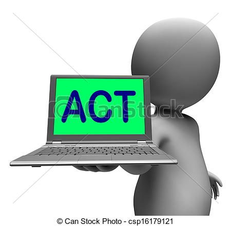 450x441 Act Laptop Character Shows Motivation Inspire Or Performing