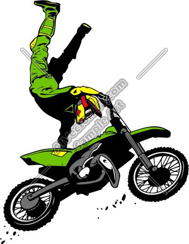 387x500 Dirtbikejd001 Clipart And Vectorart Vehicles