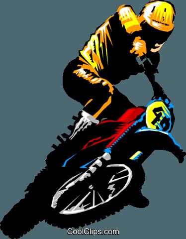 374x480 Motocross Rider Royalty Free Vector Clip Art Illustration
