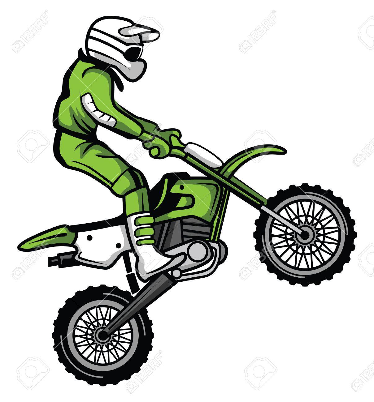 1208x1300 Astonishing Motocross Clipart 3 190 Dirt Bike Cliparts Stock