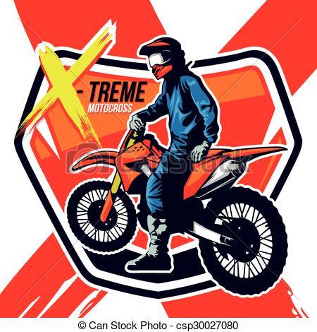 450x470 Multi Colors Illustration Of Motor Cross Vector