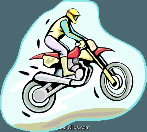 480x432 Motocross Royalty Free Vector Clip Art Illustration Vc000470