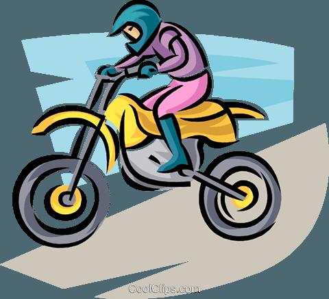 480x437 Motorcycle Rider Royalty Free Vector Clip Art Illustration