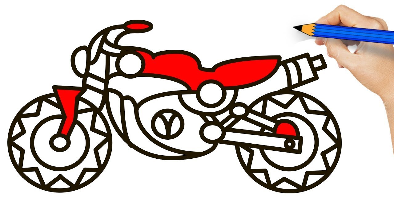 Motorbike Colouring Pages At GetDrawings