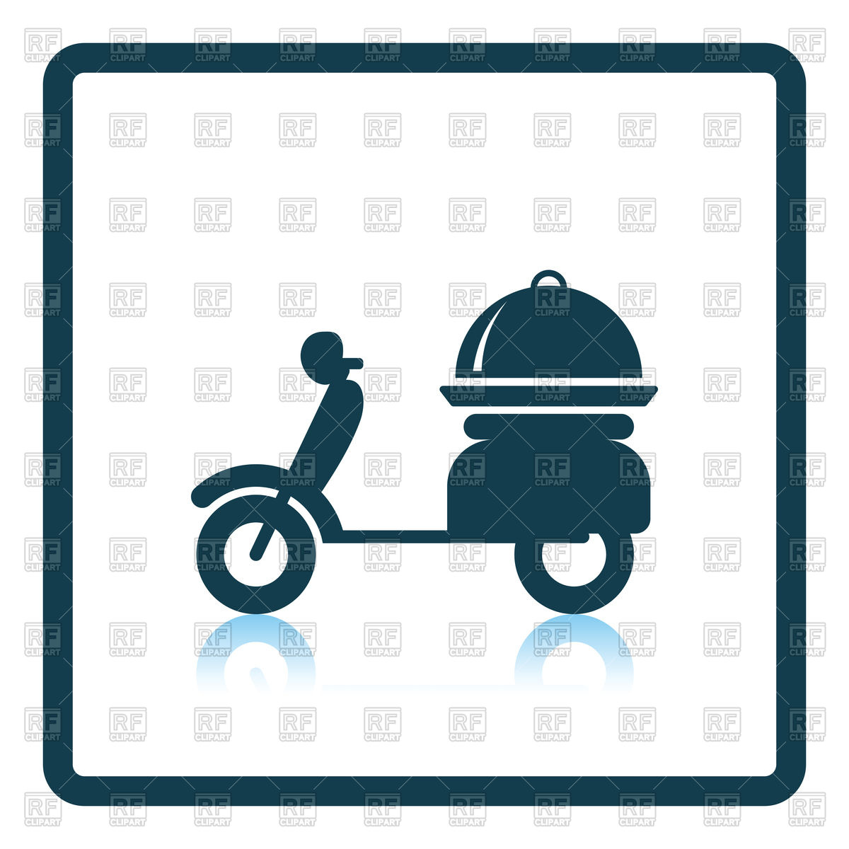 1200x1200 Delivering Motorcycle Icon Royalty Free Vector Clip Art Image
