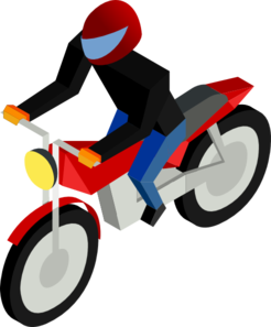 246x297 Motorcycle Driver Clip Art