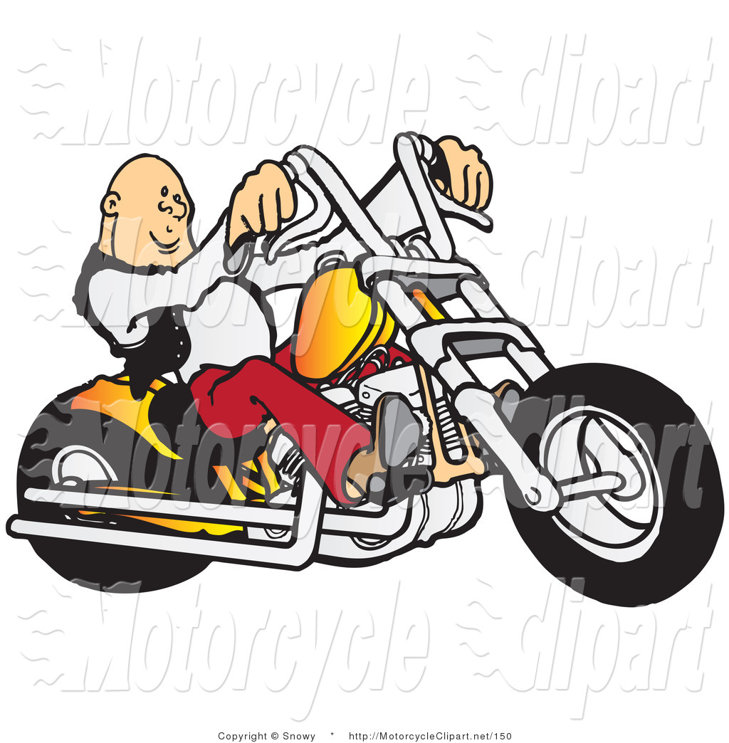 1024x1044 Transportation Clipart Of A Cool, Bald Biker By Snowy