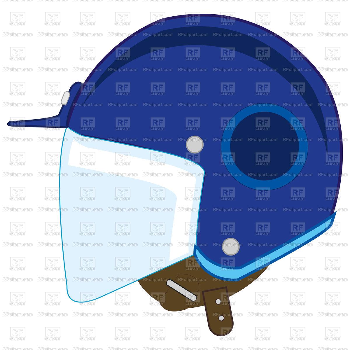 1200x1200 Defensive Motorcycle Helmet Royalty Free Vector Clip Art Image