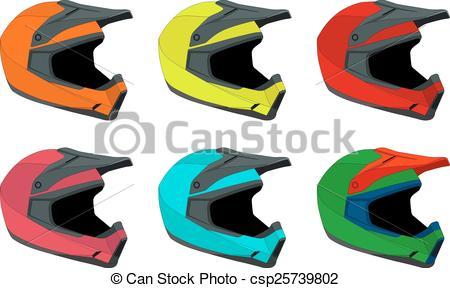 450x288 Full Face Bike Helmets Vector Pack Vector Clipart